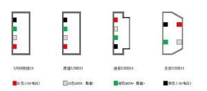 USB数据线中的四根线哪个颜色是充电线,哪个颜色是数据线